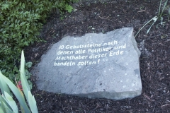 10 Gebotssteine (1978) - Foto: Robert Metternich